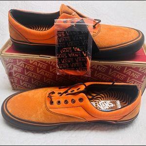 Rare Vans Era X Orange Suede Spitfire Shoes Sz 13